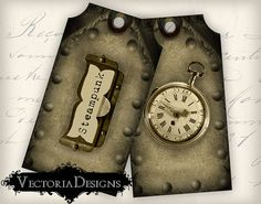 INSTANT DOWNLOAD Steampunk Tags instant by VectoriaDesigns on Etsy, $2.80