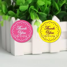 Pink Thank You DIY Kraft Paper Sticker Labels Seal Envelope Packaging Gift Box Wrapping Soap Craft Baking Decoration Candy Shop, Thanksgiving Crafts, Kraft Paper, Sticker Paper, Envelope, Hello Kitty, Place Card Holders, Wrapping, Seal