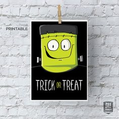 Trick or treat printable sign Trick or Treat by zeewilldraw