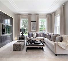 the perfect television living room