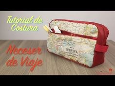 """Tutorial de Costura - Como hacer un Neceser de Viaje Impermeable - Especial """"Dia del Padre"""" - YouTube Films Youtube, Sewing Tutorials, Sewing Projects, Fabric Wallet, Couture, Diy Fashion, Lunch Box, Patches, Pouch"""