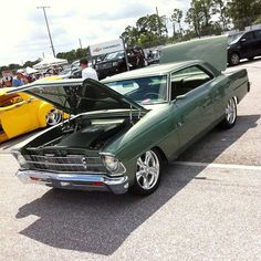 Green 67 Nova..Re-pin brought to you by agents of #carinsurance at #houseofinsurance in Eugene, Oregon