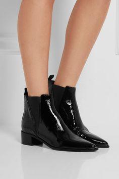 Acne Studios   Jensen black patent-leather ankle boots   NET-A-PORTER.COM