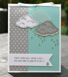 Krystal's Cards: Stampin' Up! Sprinkles of Life Ice Cream Clouds #stampinup #krystals_cards #sprinklesoflife #onlinestampclass #handstamped #cardmaking