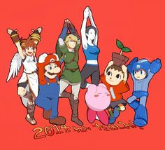 Smash Bros for WiiU/3DS : Wii Fit trainer / Animal Crossing Villager and Magaman joins the battle!