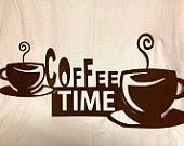 Coffee decor sign, kitchen sign, cafe sign, cnc plasma cut