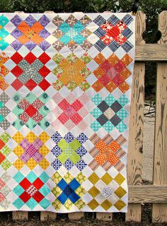 Granny Squares Quilt Top by sewcraftyjess, via Flickr