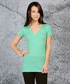 The Valorie V Neck (available in 12+ colors)  http://www.threadsforthought.com/valorie-v-neck/d/1055