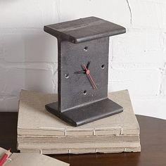 I-Beam Clock #westelm Basement