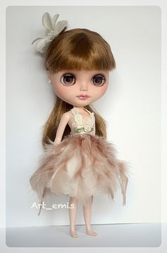 Cream Feather Dress | Flickr - Photo Sharing!