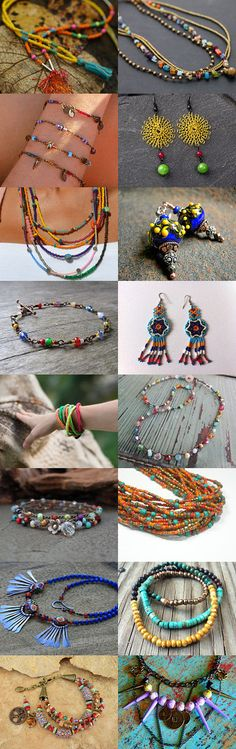 Colorful boho jewelry by Andrea on Etsy--Pinned with TreasuryPin.com