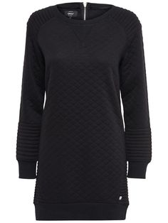 PRINTED SWEAT DRESS, Black, large