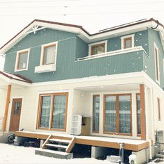 Cute House, My House, Japan House Design, Sweden House, Interior And Exterior, Interior Design, Minimalist Architecture, Exterior Paint Colors, Facade House
