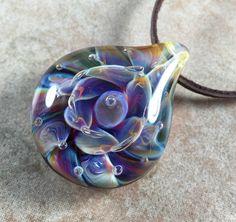 Tropical flower necklace glass beads pendant Handmade custom jewelry Lampwork beads Glass flowers Boro beads by RyanJesseeglass on Etsy https://www.etsy.com/listing/451302496/tropical-flower-necklace-glass-beads