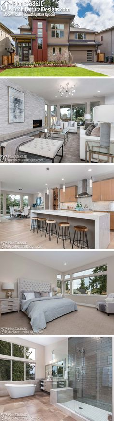 DesertRose,;,Architectural Designs Exclusive House Plan 23686JD | 4 beds | 3 baths | 3,000+ Sq.Ft. | Ready when you are. Where do YOU want to build?,;,