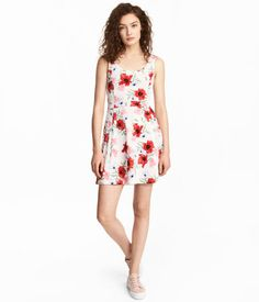 Jersey Dress | Natural white/floral | Women | H&M US