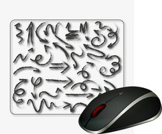 Computer Mouse Pad Computer desk Mousepad Office Decor Computer accessories Office Gifts Mouse Mat Graphic design gifts Hand drawn arrows. Beautiful graphics image Picture Black Hand drawn arrows.