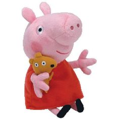 Ty Peppa Pig Stuffed Animal Plush Beanie Babies Doll Toy 1 rating ** More info could be found at the image url. (This is an affiliate link) #StuffedAnimalsPlushToys