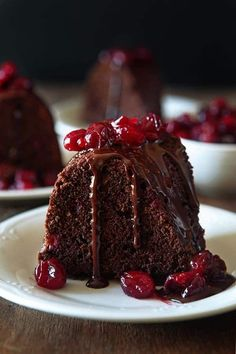 This Dark Chocolate Cranberry Bundt Cake is the perfect combination of rich chocolate and tart juicy cranberries in a tender, buttery cake.