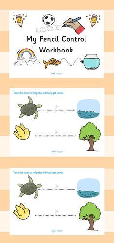 schrijven. övningsblad för barnen att lära sig följa streck med penna.