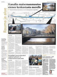 My article about cultural landscape of Rauma Kanali in Sanomalehti Länsi-Suomi
