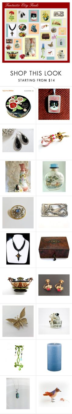 """Fantastic Etsy Finds"" by anna-ragland ❤ liked on Polyvore featuring CORO, Holly's House and vintage"