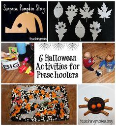 6 Halloween Activities for Preschoolers
