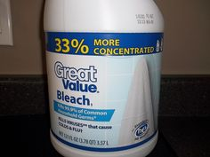 """New Water Dosing Guidelines for """"More Concentraded"""" Bleach"""