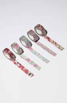 liberty print tape: This would be easy enough to make printing Liberty print you like, edit in Paint or word, and then use double sided tape Mt Tape, Masking Tape, Washi Tape, Liberty Fabric, Liberty Print, Liberty Of London, Give It To Me, How To Make, Diy Gifts