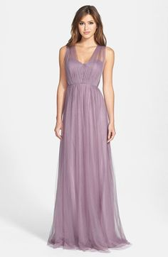 Two layer chiffon and silk gown with empire waist, would look amazing with a cute belt!