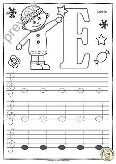 Learn Piano Free A set of 26 music worksheets {Winter and Christmas themed} is created to help your students learn to trace, copy, color and draw notes on the staff {Treble pitch}. {C first – A second octaves} Shape Tracing Worksheets, Music Theory Worksheets, Piano Lessons, Music Lessons, Student Learning, Kids Learning, Piano Songs For Beginners, Piano Teaching, Treble Clef