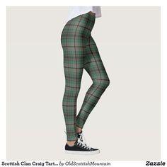 Scottish Clan Craig Tartan Leggings