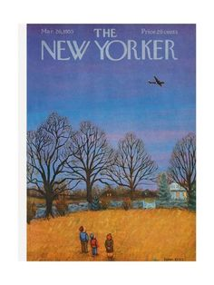 Premium Giclee Print: The New Yorker Cover - March 26 Wall Art by Edna Eicke : 12x9in The New Yorker, New Yorker Covers, Framed Artwork, Wall Art, Beach Landscape, Cover Art, Giclee Print, Original Art, Illustration Art