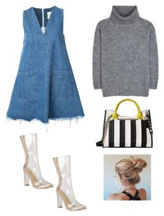"""Original l o o k®"" by bintoufashion on Polyvore featuring mode, Sandy Liang, Yves Saint Laurent et Steve Madden"