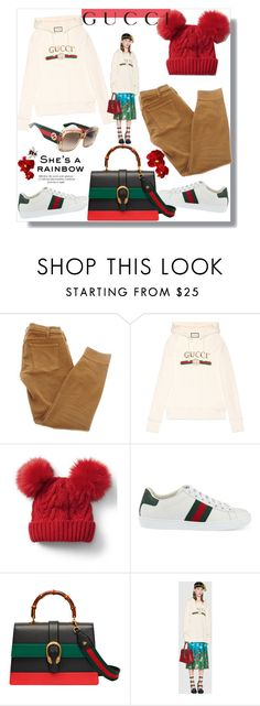 """""""Gucci!"""" by prettynposh2 ❤ liked on Polyvore featuring Current/Elliott, Gucci, Gap, BCBGMAXAZRIA and gucci"""