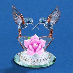 Glass Baron Hummingbird Pair Figurine