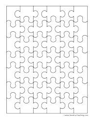 blank puzzle 42 pieces - Printables For Kids To Color
