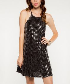 d5848fc783 Another great find on  zulily! Silver Metallic Shift Dress  zulilyfinds  Holiday Party Dresses