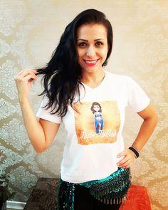 Olha que linda ficou a camiseta que a bailarina Jade Jalilah de Americana - SP fez com a mascote dela? #centraldancadoventre #dancadoventre #bellydance #mascotedanca #mascotedancadoventre