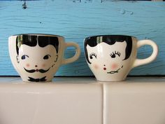 Cute his & hers tea cups