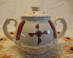 canadian cndy bowl | ... Ceramic Sugar or Candy Bowl, Made in Canada, Traditional Ethnic Dishes