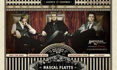 Rascal Flatts website design.
