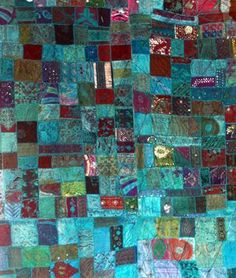 Indian Quilt (Blue Silks)