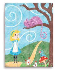 Love this Alice in Wonderland Wall Art by Image Canvas on #zulily! #zulilyfinds