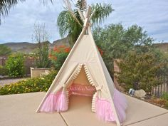 Poetic Princess Teepee  Custom Made to Order  by StitchinNista, $259.00