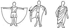 Instrucciones para vestir la toga romana