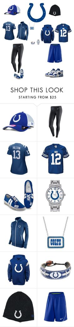 """Indianapolis Colts"" by jenabbyreid on Polyvore featuring New Era, NIKE, The Bradford Exchange, Game Time and GameWear"