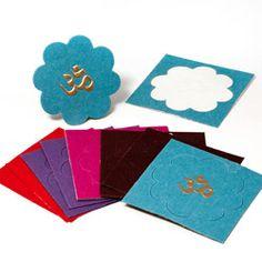 Pack of 30 Om (Aum) Stickers (India)