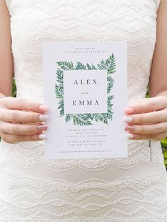 Greenery Wedding Invitation Template Fern Leaves Printable Wedding Invitation DIY Templett PDF Instant Download Editable Rustic Wedding. #wedding #printable #invitation #affiliate #weddinginvitation