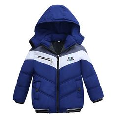 New Fashion Patchwork Boys Jacket&Outwear Warm hooded Winter jackets for boy Girls coat Children Winter Clothing Boys Coat - Kid Shop Global - Kids & Baby Shop Online - baby & kids clothing, toys for baby & kid Baby Outfits, Kids Outfits, Baby Boy Jackets, Boys Winter Jackets, Winter Baby Boy, Winter Kids, Baby Shop Online, Kids Coats, Baby Boys